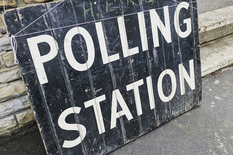 Polling station noticeboard